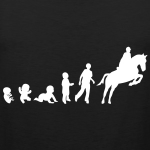 evolution equitation cheval1 obstacle sa Tee shirts - Débardeur Premium Homme