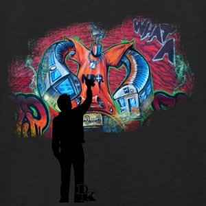Schwarz graffiti is art T-Shirts - Männer Premium Tank Top