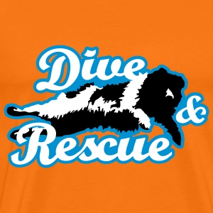 Newfoundland BW - dive and rescue - Mannen Premium T-shirt
