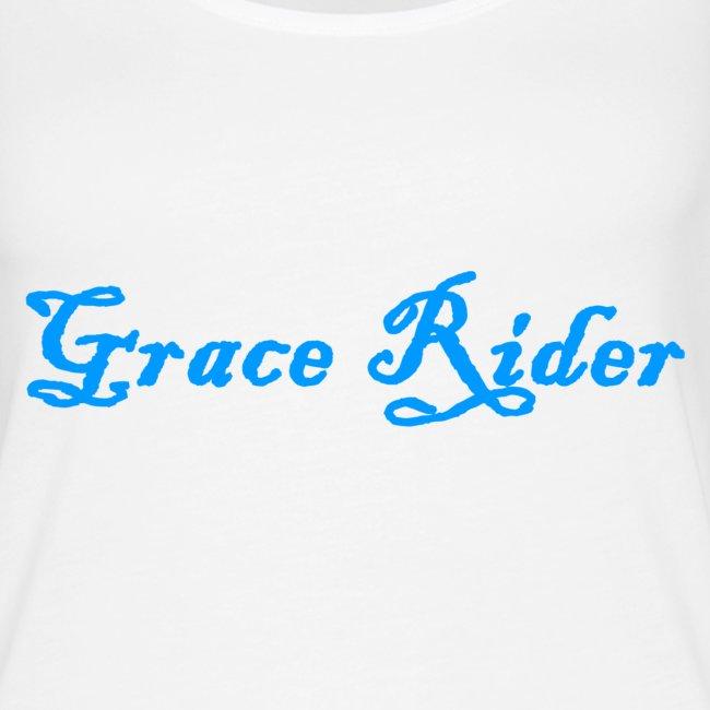 GRACE RIDER Tanktop (blau auf weiß) WOMEN