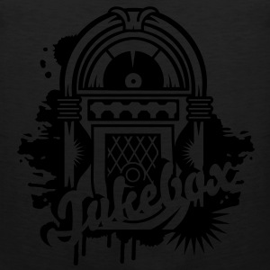 Jukebox Graffiti  T-Shirts - Männer Premium Tank Top