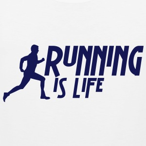 running is life male i 1c T-Shirts - Men's Premium Tank Top