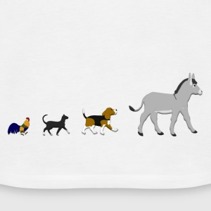 Dog, cat, cock, donkey Tops - Women's Premium Tank Top