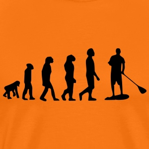 Evolution, Sup, standing paddling, surfing, surfing Supen, Stand up paddle surfing T-shirts - Men's Premium T-Shirt