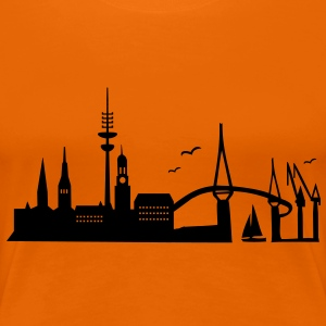 Hamburg Skyline - Frauen Premium T-Shirt