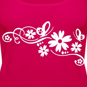 flower tribal tattoo - Women's Premium Tank Top
