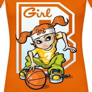 Basketball girl - Women's Premium T-Shirt