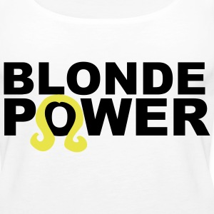 blonde power Tops - Women's Premium Tank Top