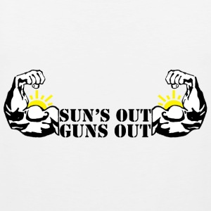 Suns Out Guns Out T-Shirts - Men's Premium Tank Top
