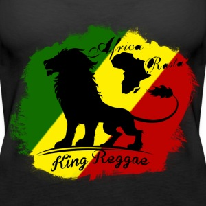 africa rasta king reggae Tops - Women's Premium Tank Top