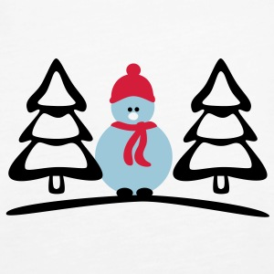 snowman Tops - Women's Premium Tank Top