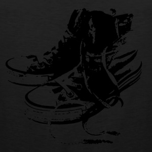 Sneakers Black T-Shirts - Men's Premium Tank Top