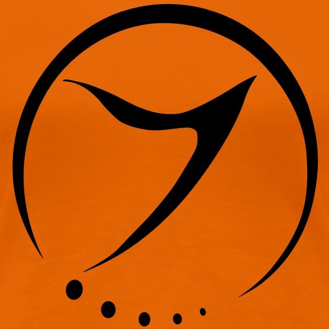 Womens Tee (black logo front)