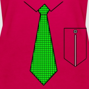 Green tie with pocket Toppe - Dame Premium tanktop