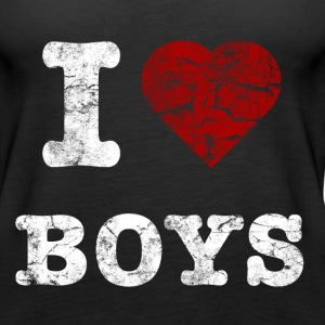 i_love_boys_vintage_hell Tops - Women's Premium Tank Top