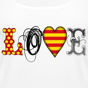 Love Catalonia Black Tops - Frauen Premium Tank Top