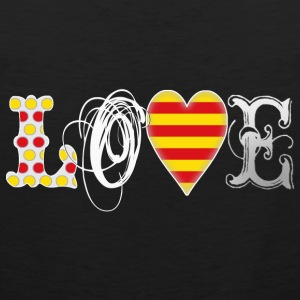 Love Catalonia White T-Shirts - Männer Premium Tank Top
