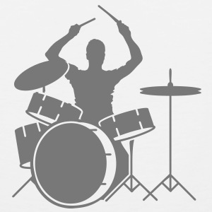 drummer and drums T-Shirts - Men's Premium Tank Top
