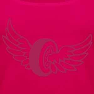 Racing Wing Wheel Tops - Women's Premium Tank Top