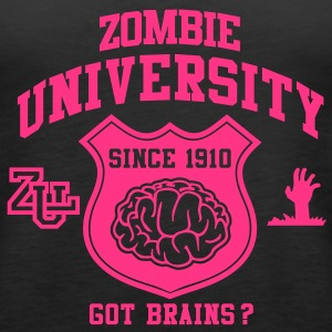 Zombie University Topper - Premium singlet for kvinner