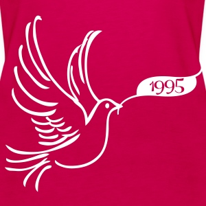Peace dove with the year 1995 Tops - Women's Premium Tank Top