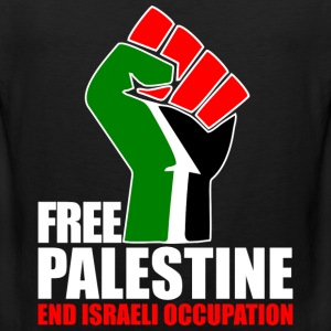 Free Palestine end Israeli Occupation T-Shirts - Men's Premium Tank Top