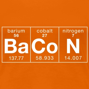 The Elements of BaCoN - Women's Premium T-Shirt