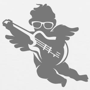 A cherub with cool glasses and an electric guitar T-Shirts - Men's Premium Tank Top