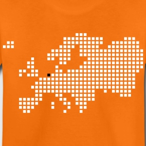 Golden orange Netherlands Pixel Shirts - Kids' Premium T-Shirt