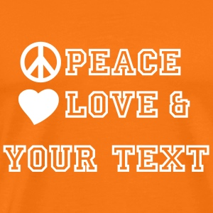 peace_love_and_2 T-shirts - Premium-T-shirt herr