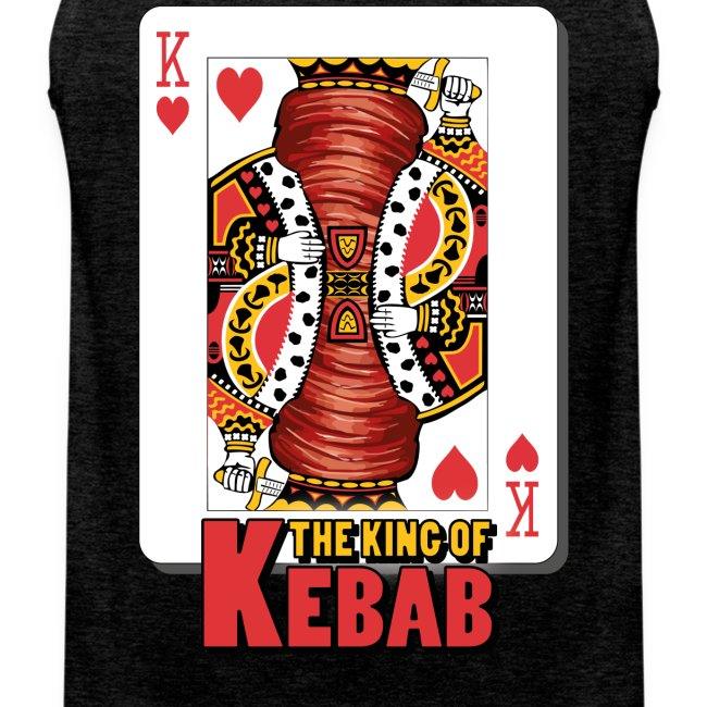 T-Shirt smanicata The King of Kebab