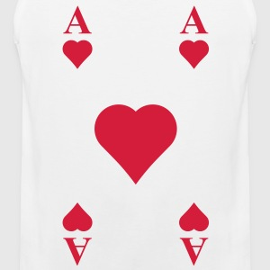 ace of hearts, playing card  T-Shirts - Men's Premium Tank Top