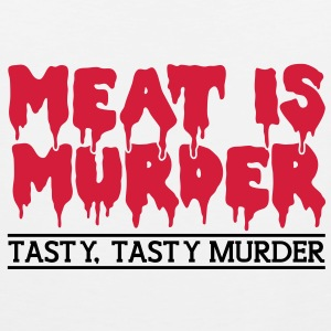 Meat is murder T-Shirts - Men's Premium Tank Top