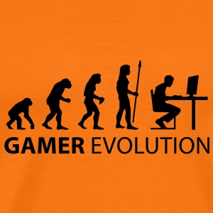 evolution_born_gamer T-shirts - Mannen Premium T-shirt