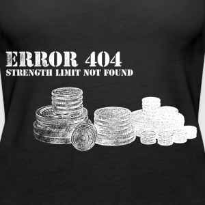 Error 404 Message - Women's Muscle 2 - Women's Premium Tank Top