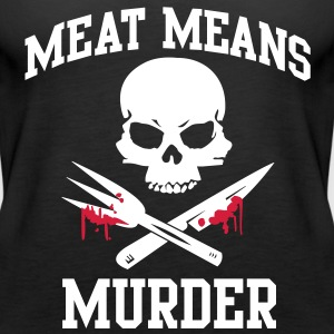 Meat means murder Tops - Women's Premium Tank Top