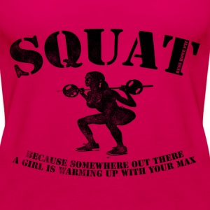 Squat - Women's Muscle - Women's Premium Tank Top