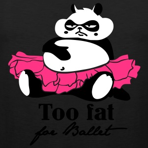 Too fat for Ballet T-shirts - Herre Premium tanktop