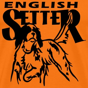 setter_in_pointing_3 T-Shirts - Men's Premium T-Shirt