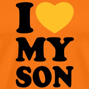 I love my son T-Shirts - Mannen Premium T-shirt