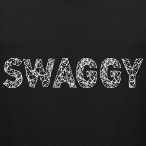 Swaggy White T-Shirts - Men's Premium Tank Top