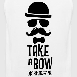 Like a swag bow tie moustache style boss t-shirts Tee shirts - Débardeur Premium Homme