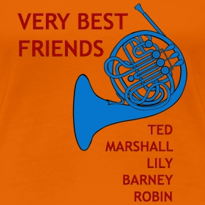 Very Best Friends french horn | Frau classic - Frauen Premium T-Shirt