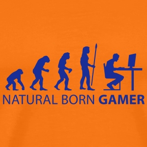 evolution_born_gamer T-shirts - Herre premium T-shirt