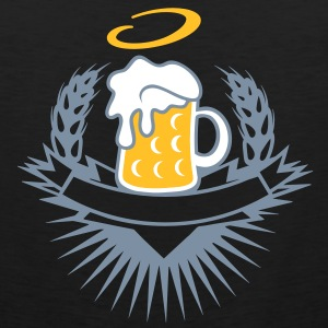 beer in a beer mug with ears of wheat and halo T-Shirts - Men's Premium Tank Top