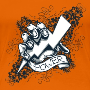 power  blitz tattoo  T-shirts - Premium-T-shirt dam