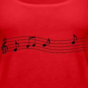 musik notenband Tops - Frauen Premium Tank Top