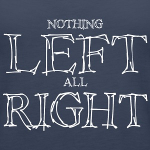 Left Right - White Tops - Women's Premium Tank Top