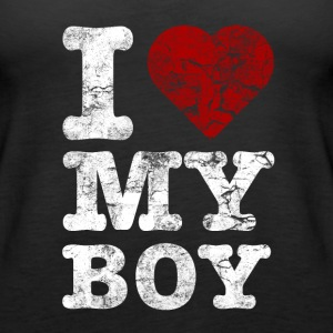 I Love my BOY vintage light Tops - Women's Premium Tank Top