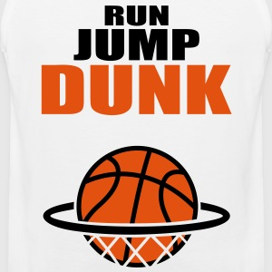 Run Jump Dunk: basketball. T-shirts - Herre Premium tanktop